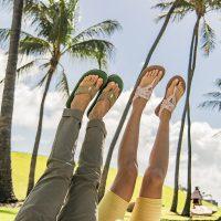 Airstream + Sanuk Yoga Sling Back + Furreal Flip Flop