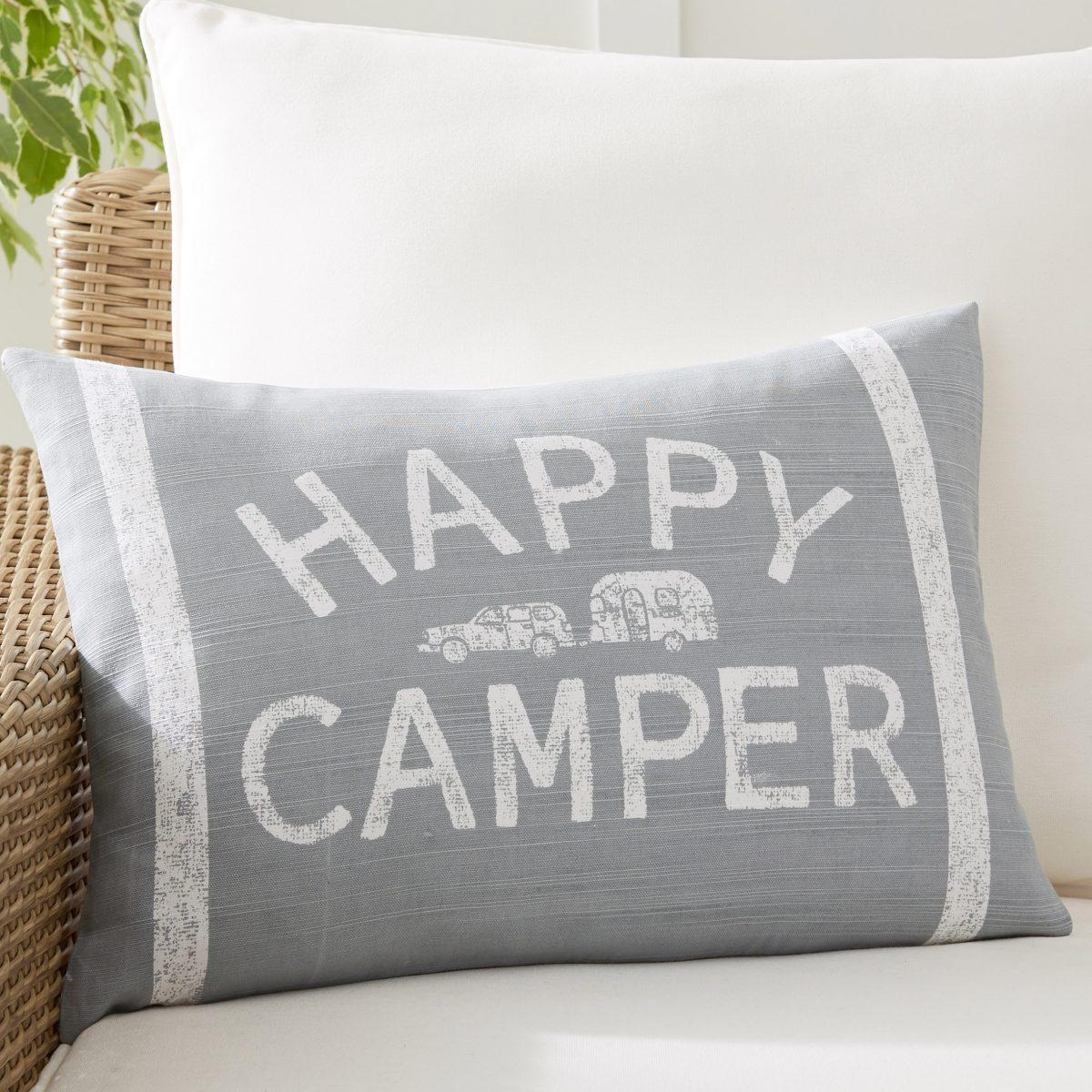Airstream + Pottery Barn Happy Camper Lumbar Pillow