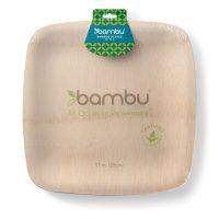 064500 Square VWare Plates 11-inch - bambu