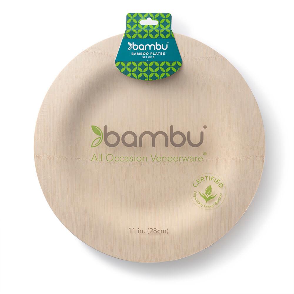 060400 Round VWare Plates 11-inch - bambu