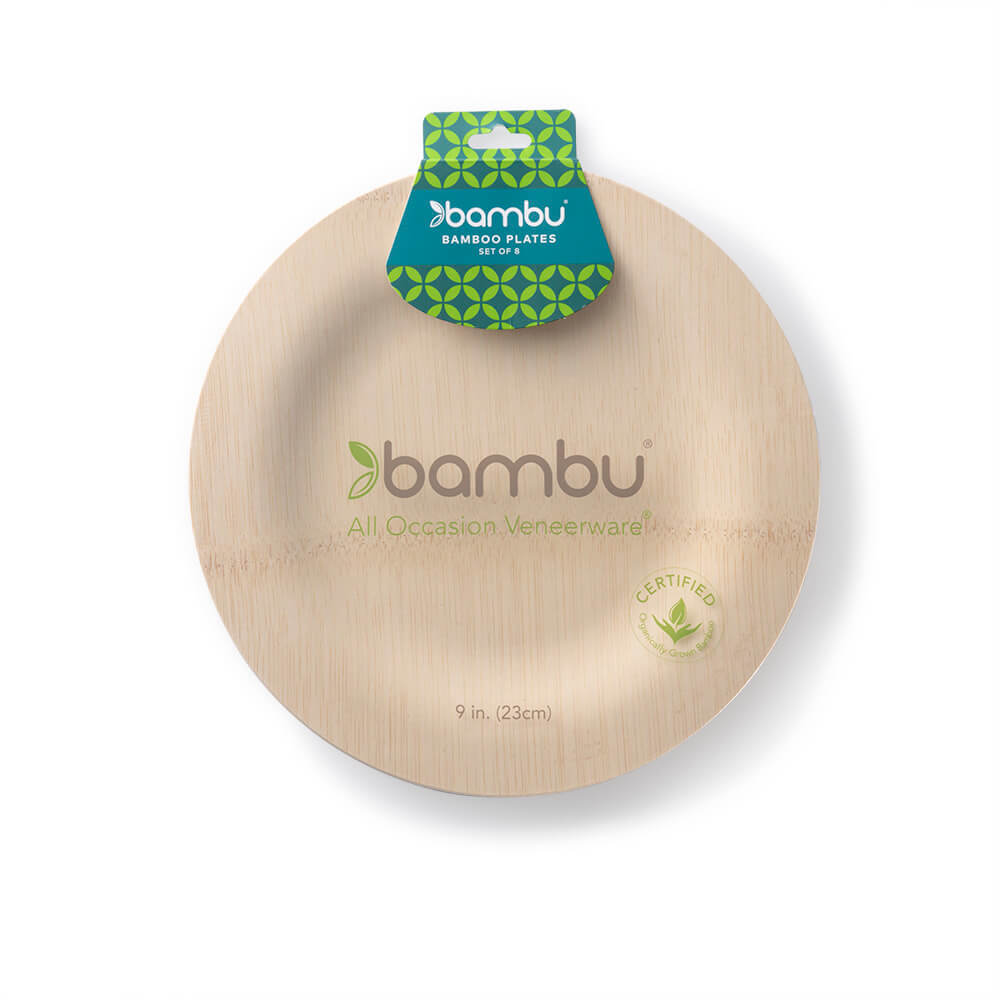 060200 Round VWare Plates 9-inch - bambu