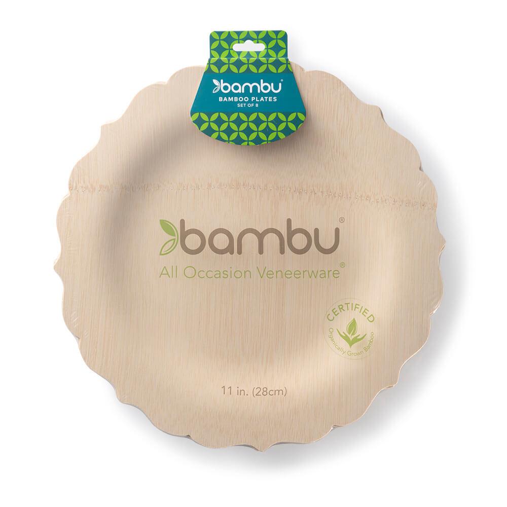 064570 Fancy VWare Plates 11-inch - bambu