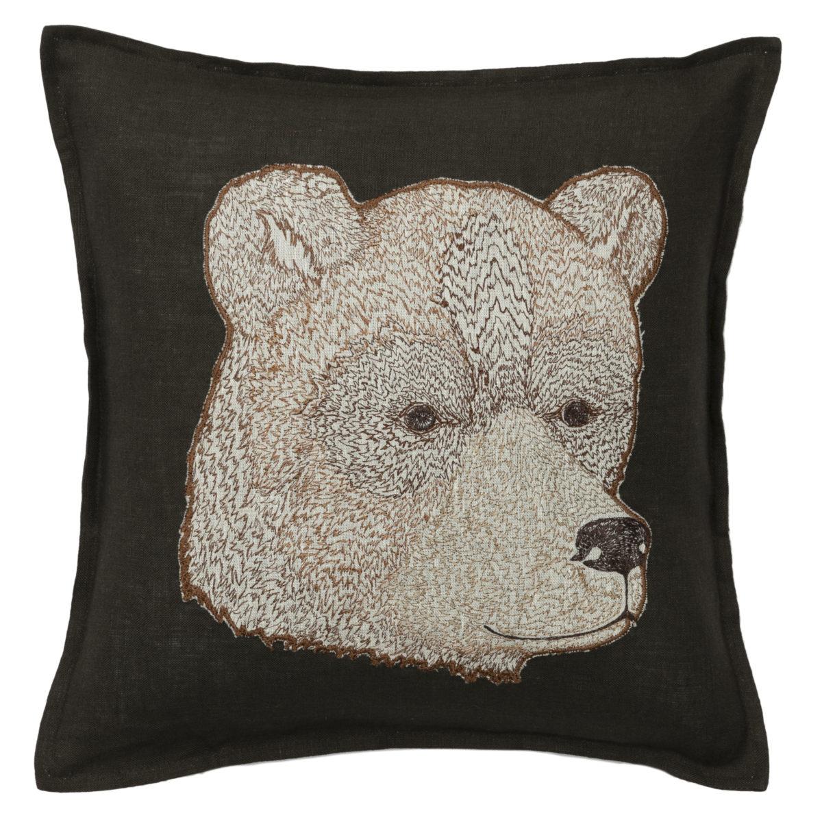 Bear Applique Pillow