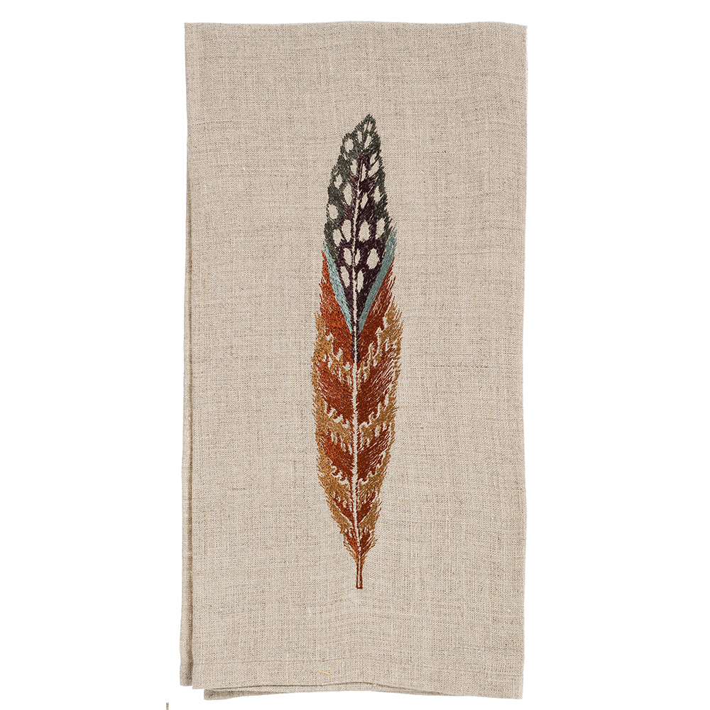 Fowl-Feather-Tea-Towel-Coral-and-Tusk