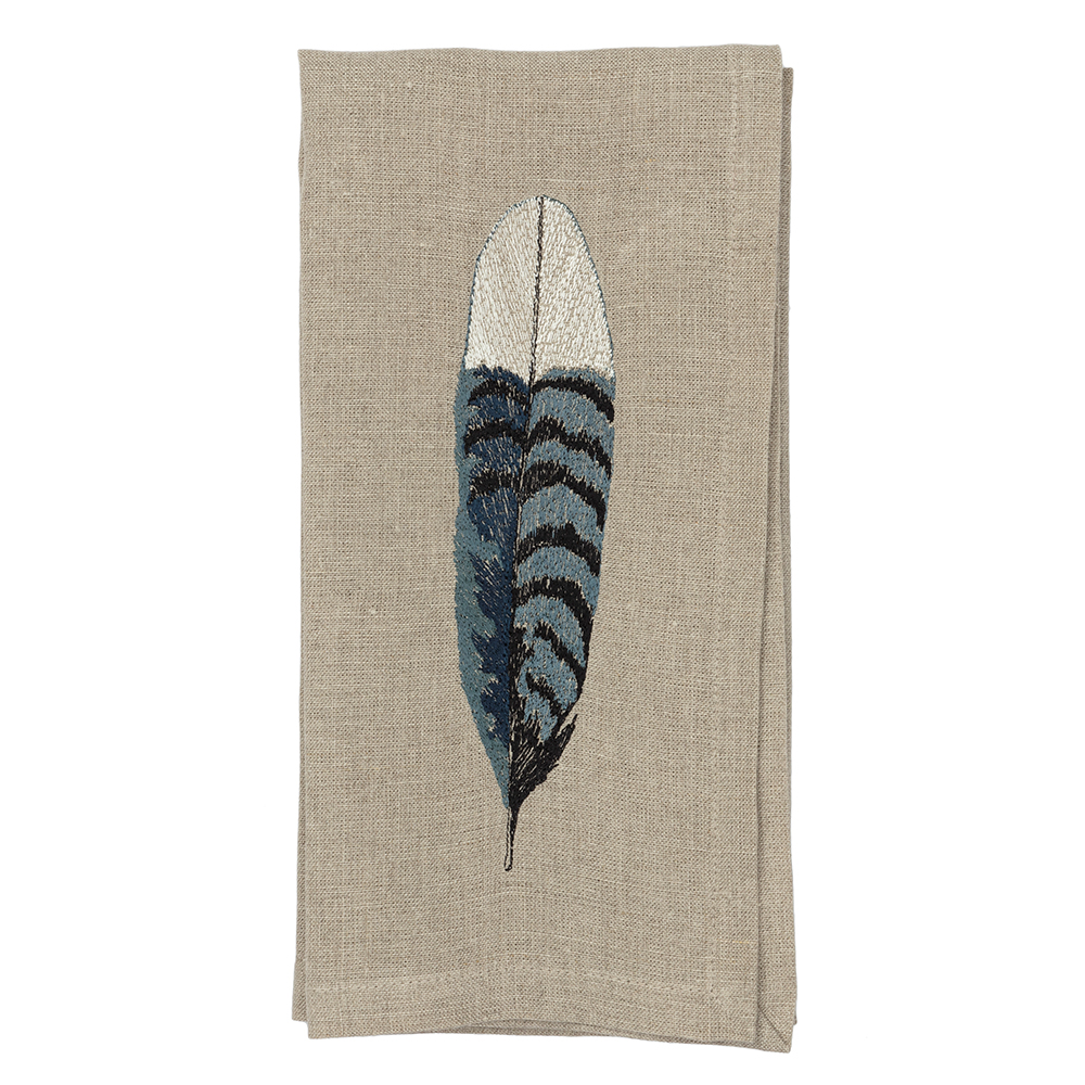 Blue-Jay-Feather-Napkin-Coral-and-Tusk-Folded
