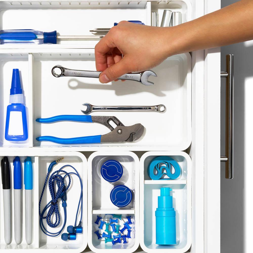 oxo airstream 4 piece adjustable drawer bin set 3