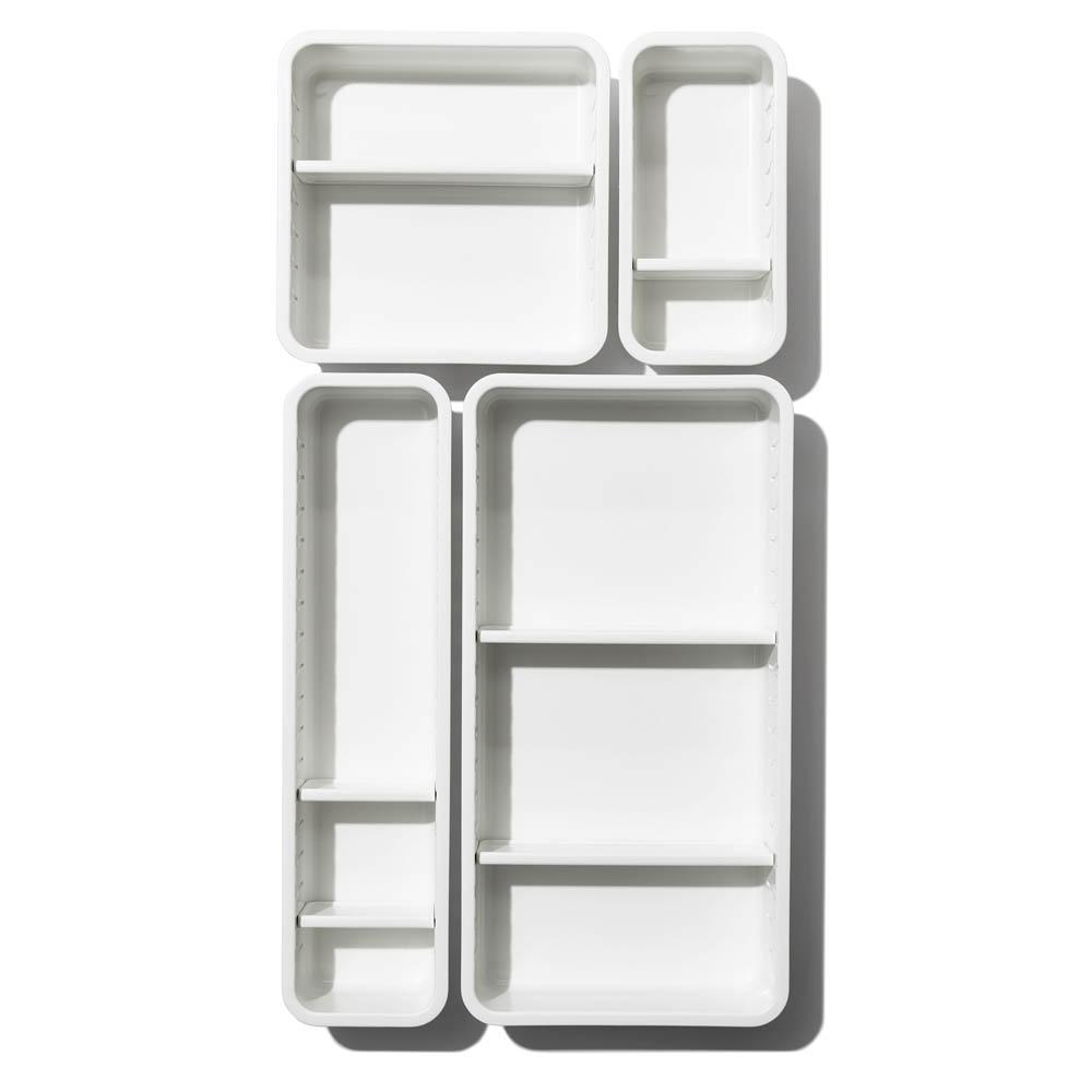 oxo airstream 4 piece adjustable drawer bin set 7