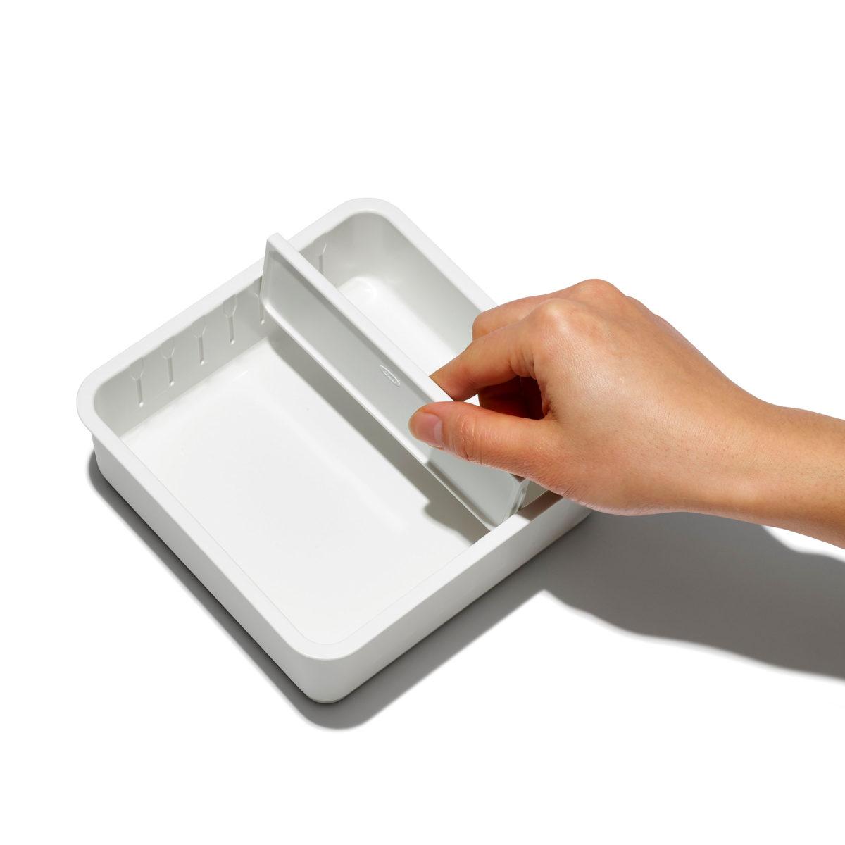 oxo airstream 4 piece adjustable drawer bin set 8