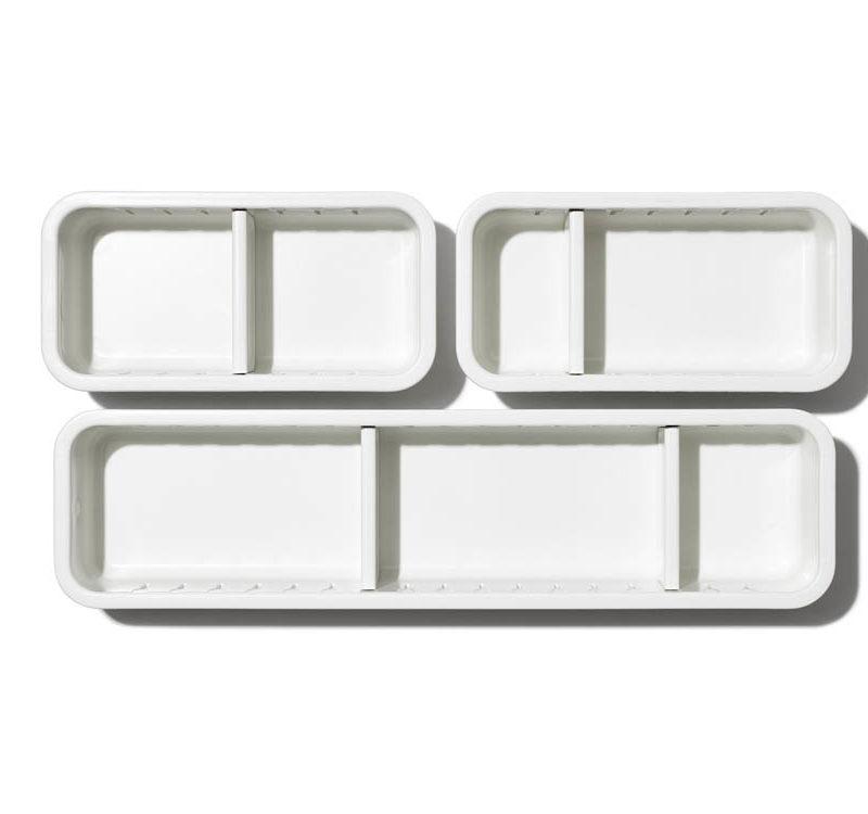 oxo airstream 3 piece drawer organizer 4