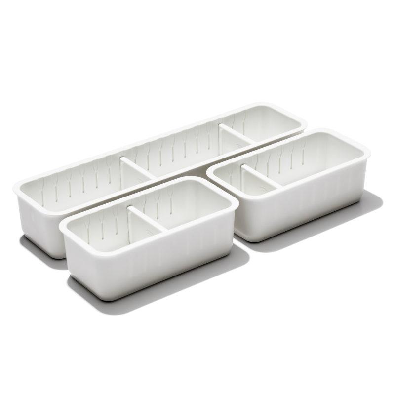 oxo airstream 3 piece drawer organizer 1