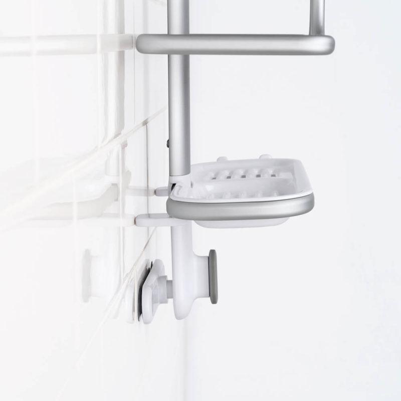 oxo aluminum shower caddy 3