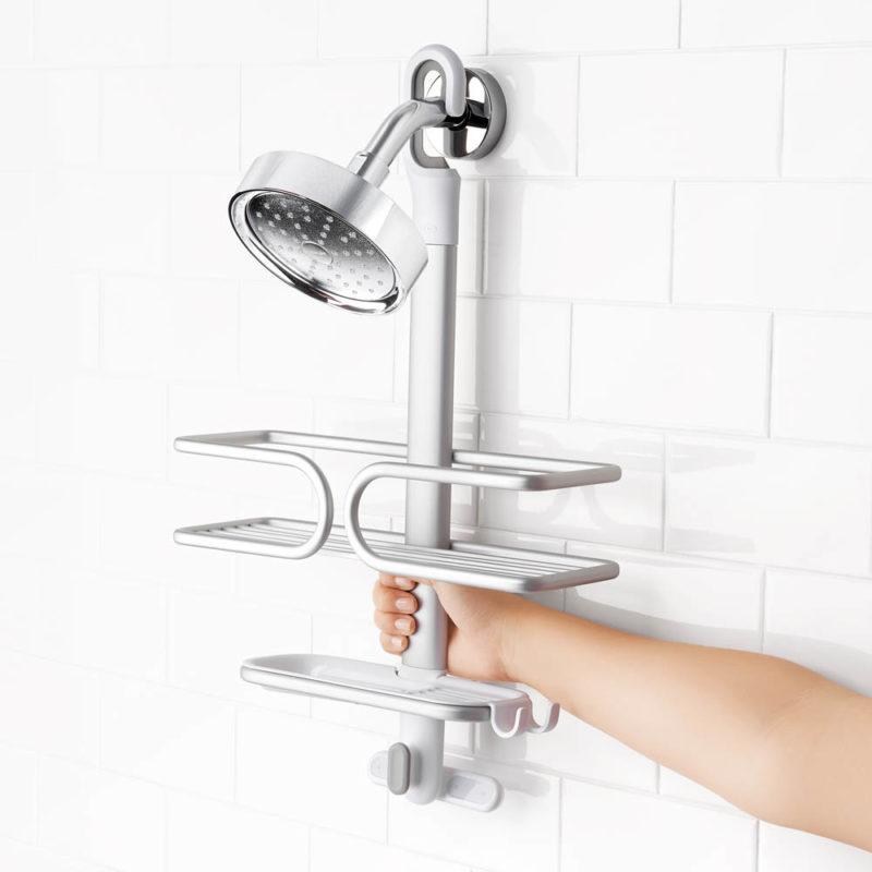 oxo aluminum shower caddy 6