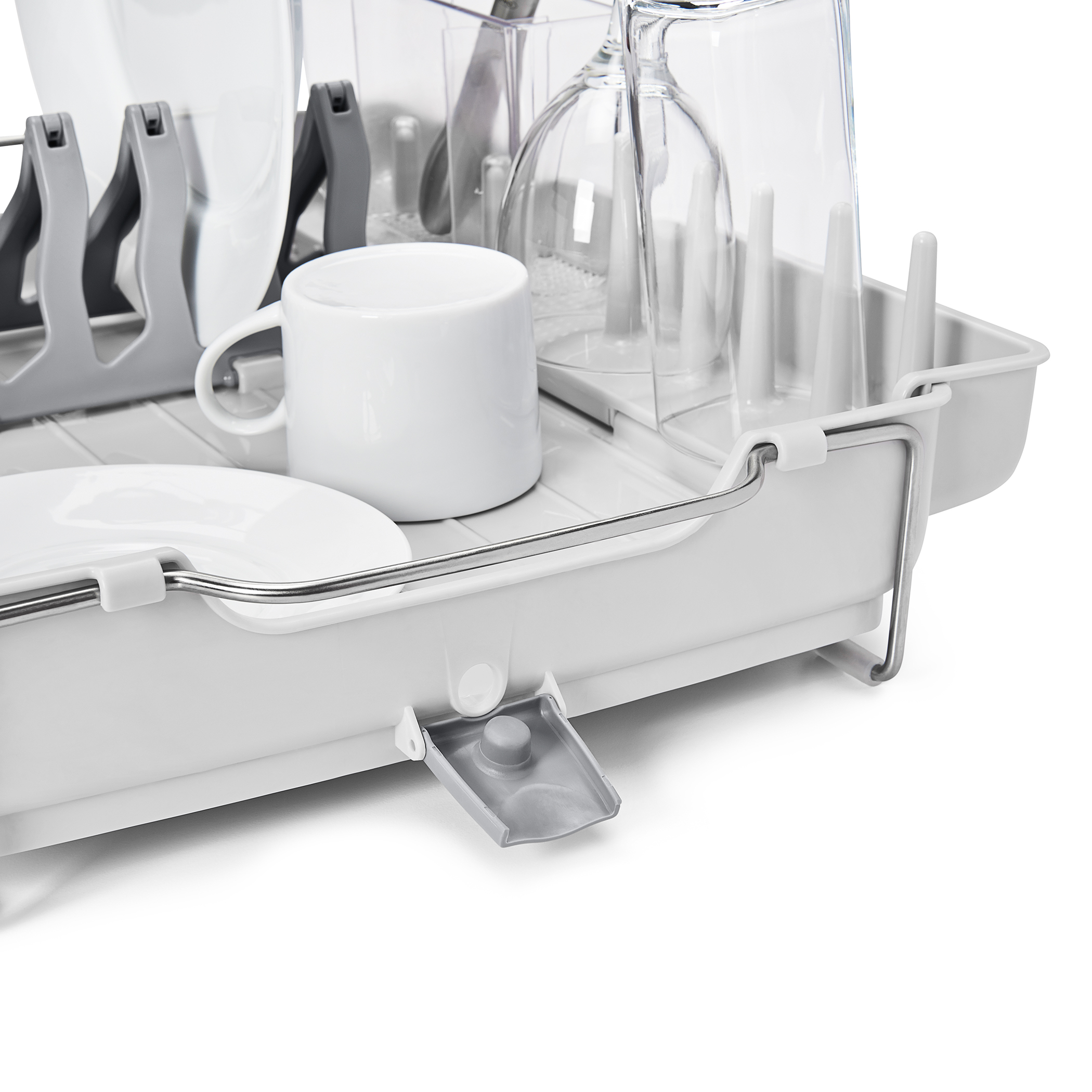 oxo airstream foldaway dish rack_7a
