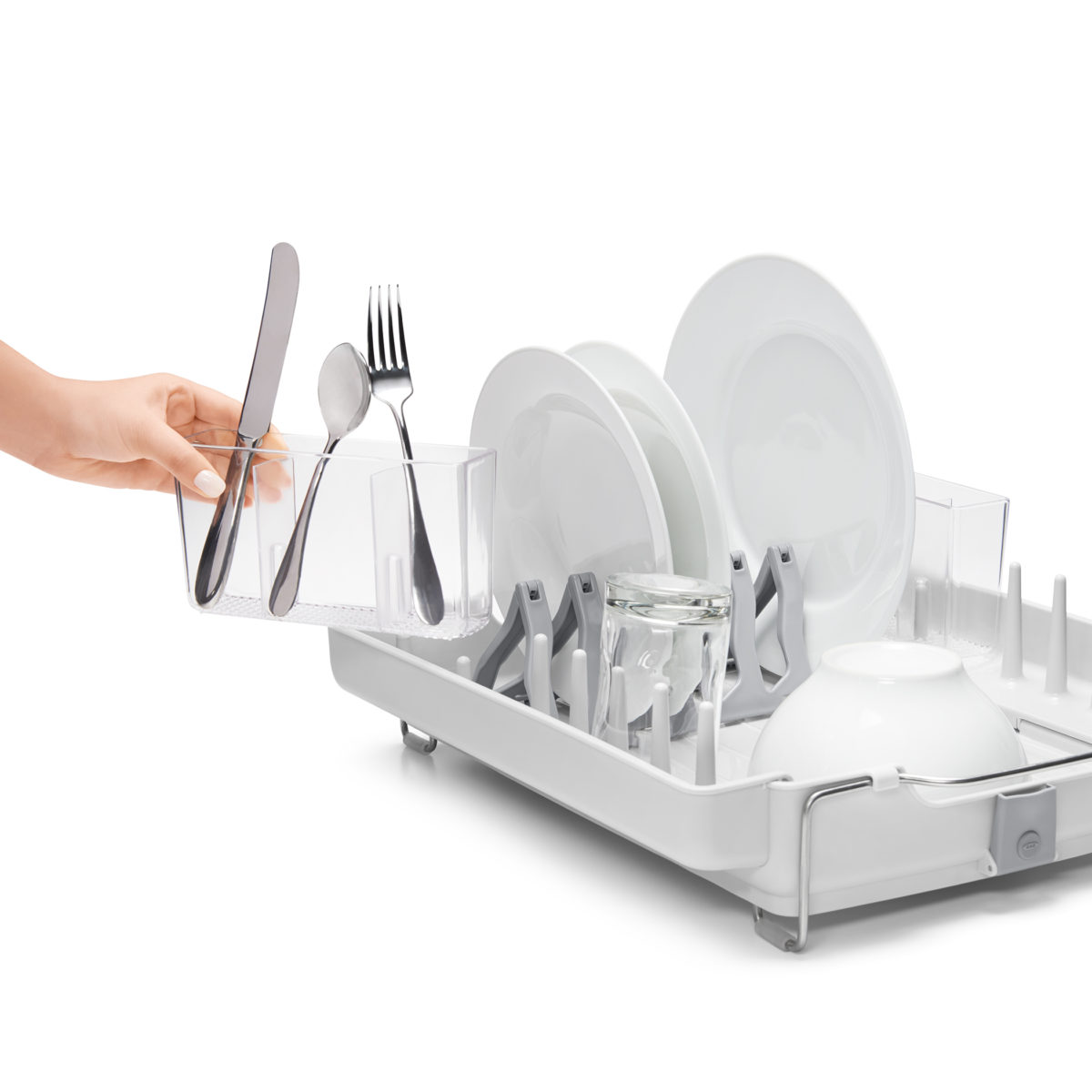 oxo airstream foldaway dish rack_4