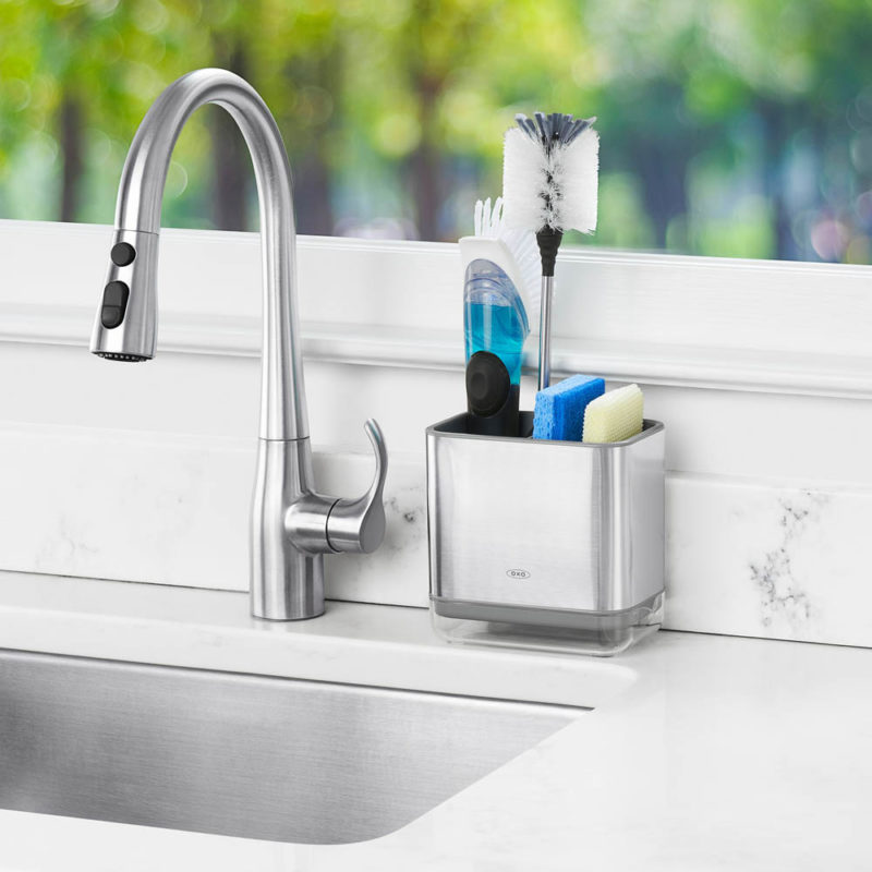 oxo airstream stainless steel sink caddy_1