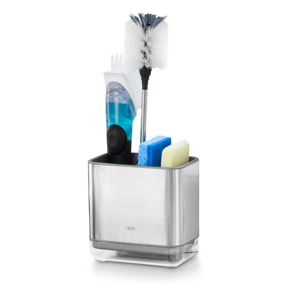oxo airstream stainless steel sink caddy_1b