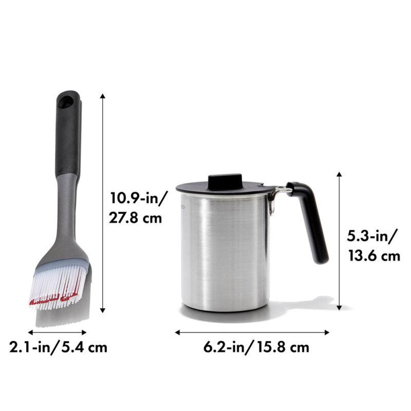 oxo airstream grilling basting pot and brush set_8dim