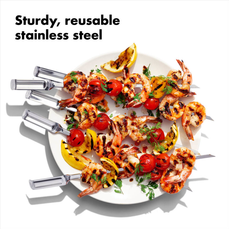 oxo airstream 6 six piece grilling skewer set_8